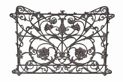 Iron Cast Panel Railing Interior Ornamental Balcony