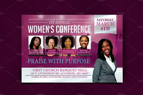 womens conference flyer template creative flyer