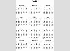 Yearly Calendar 2018 weekly calendar template