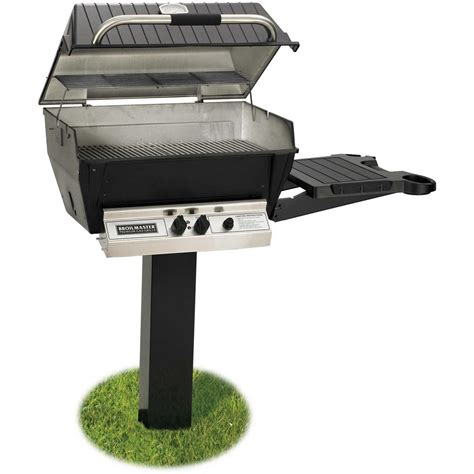 Small Boat Gas Grill by Broilmaster H3 Deluxe Gas Grill On Black In Ground