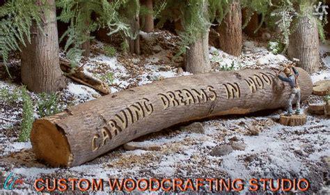 Firewood Cutting Stand by Custom Woodcrafting Studio Wood Carving Artist Uri Misrachi