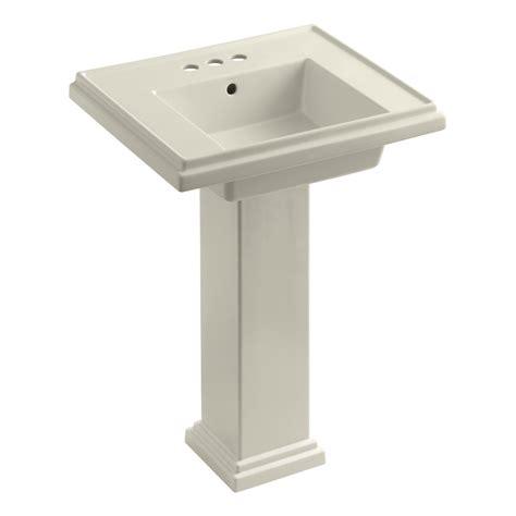 Kohler Bathroom Pedestal Sinks by Kohler K 2844 4 0 Tresham 24 Inch Pedestal Bathroom Sink
