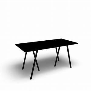 Hay Loop Tisch : loop stand tisch 160 schwarz einrichten planen in 3d ~ Michelbontemps.com Haus und Dekorationen