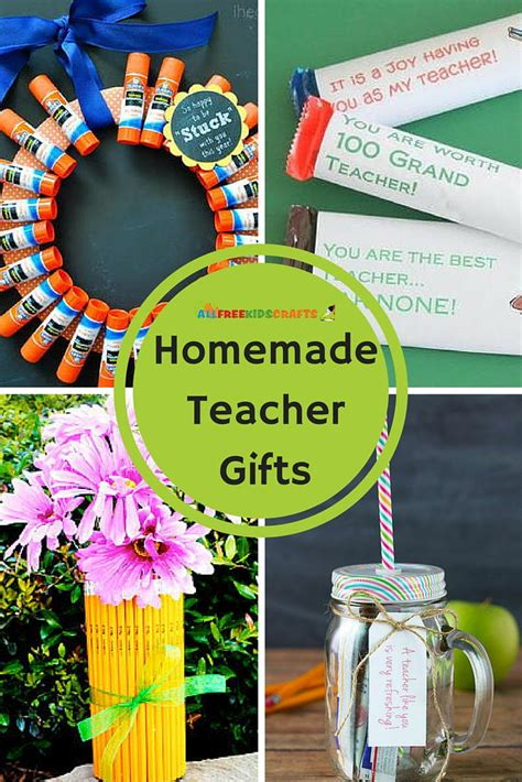 homemade teacher gifts allfreekidscraftscom