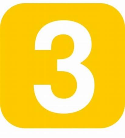 Numbers Number Clip Clipart Cliparts Yellow Square