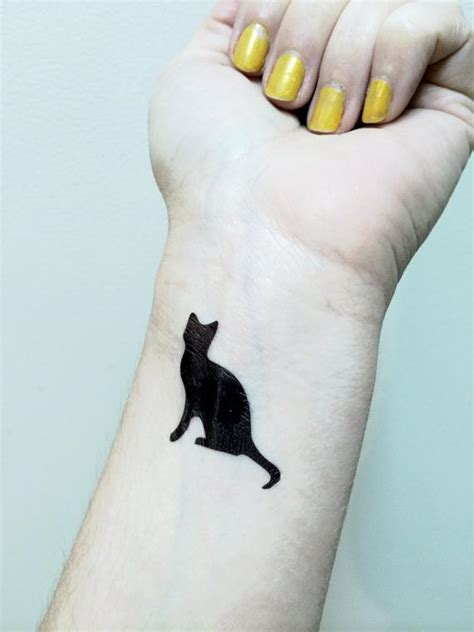Chat Tattoo Tatouage Temporaire Chat Noir Kitty Cat Tat