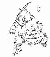 Coloring Slayer Demon Inosuke Drawing Easy Comments Sketches sketch template