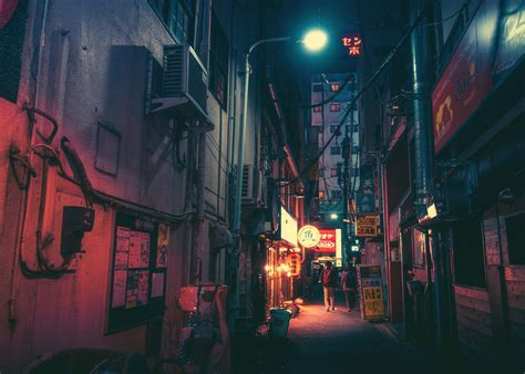 japan street neon wallpapers hd desktop  mobile