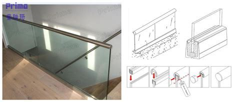 Easy To Install Glass Handrail Aluminium Channel Railing