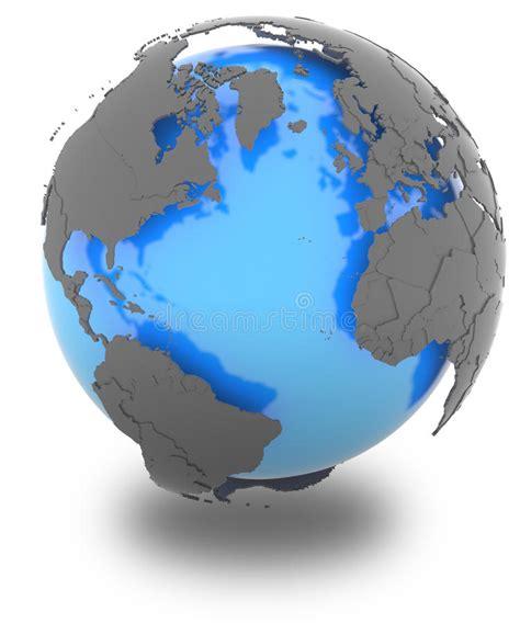 Kontinenter Som Omger Atlanten Stock Illustrationer ...