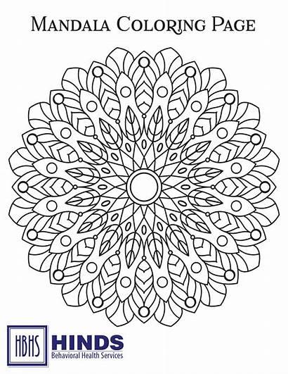 Mandala Coloring Pattern Health Sheets Circle Ornamental