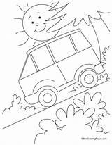 Coloring Slope Pages Steep Drawing Lsu Bestcoloringpages Transport Race Sheets Train Van Getdrawings sketch template
