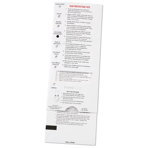 Skin & Sun Safety Pocket Slider 111133-ss