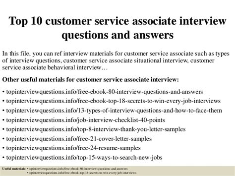 Customer Service Team Leader Questions by Top 10 Customer Service Associate Questions And