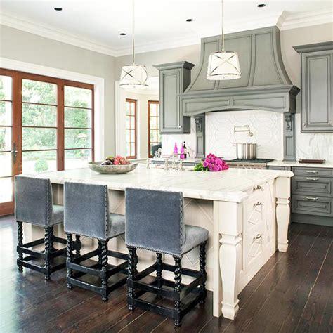 kitchen island counter stools blue velvet bar stools transitional kitchen bhg