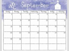 September 2019 Calendar Latest Calendar
