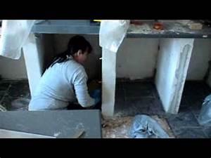 Küche Selber Bauen Ytong : putz verreiben in den unterschr nke k che youtube ~ Lizthompson.info Haus und Dekorationen