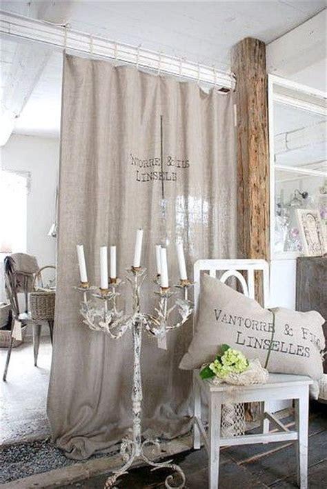 drop cloth curtains as room divider basement ideas
