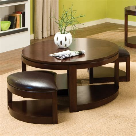 table with ottomans underneath round coffee table with seats underneath roy home design