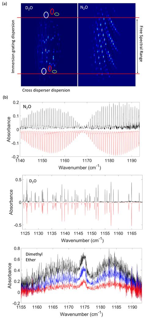 Molecular spectroscopy. (a) Observed camera images ...