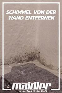 Schimmel Von Der Wand Entfernen : pin auf reinigen pflegen ~ Watch28wear.com Haus und Dekorationen