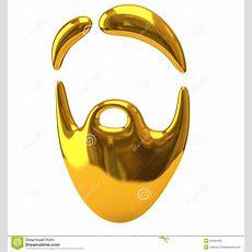 Golden Beard Icon Stock Photo  Image 33784430