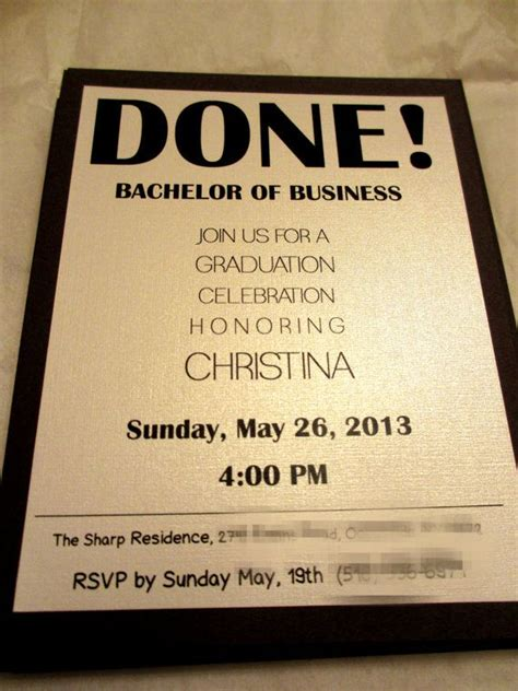graduation invitations college  high school graduation