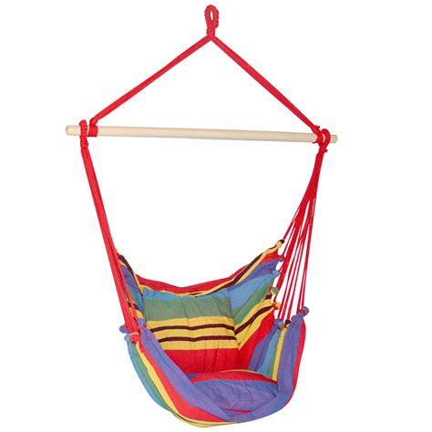 hammock swing chair with cushion multi colour lure and