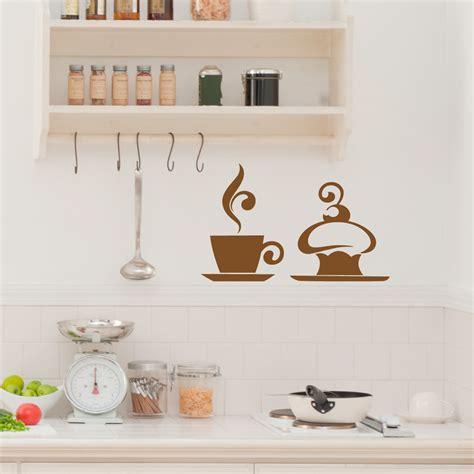 stickers pour la cuisine stickers muraux pour la cuisine sticker café et gâteau