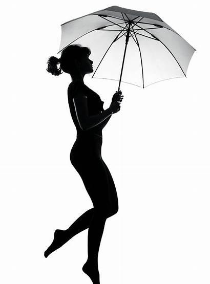 Umbrella Silhouette Woman Pregnant Clip Clipart Shadow