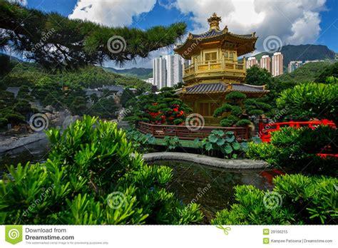 Wölben Sie Brücke Und Pavillon In Garten Nans Lian, Hong