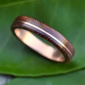 wood ring rose gold asi nacascolo ecofriendly wood wedding With wood and gold wedding rings