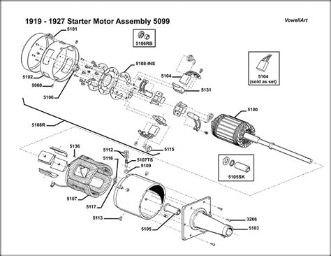 1926 1927 Model T Ford Wiring Diagram by Model T Ford Forum 1919 1927 Starter Motor 5099 Assembly
