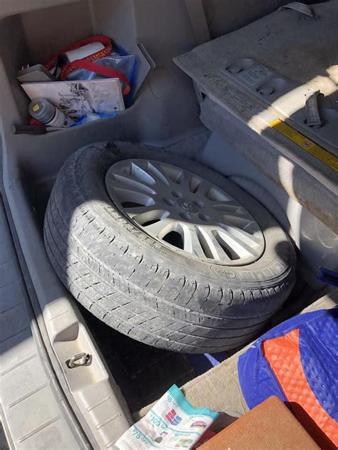 spare donut wheel  tire sienna awd tested page