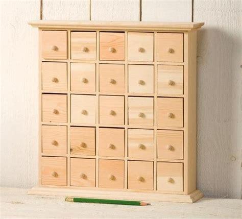 drawer plain wooden storage box ideal advent calendar