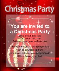christmas party invitation card christmas cards ready made office templates