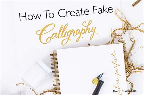 1000+ Ideas About Fake Calligraphy On Pinterest