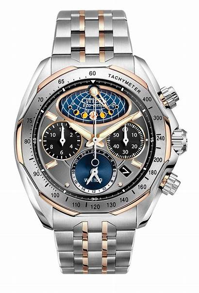 Moon Phase Flyback Citizen Chronograph 50h