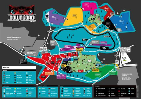 Download Festival | The Download 2019 Map is now live ...