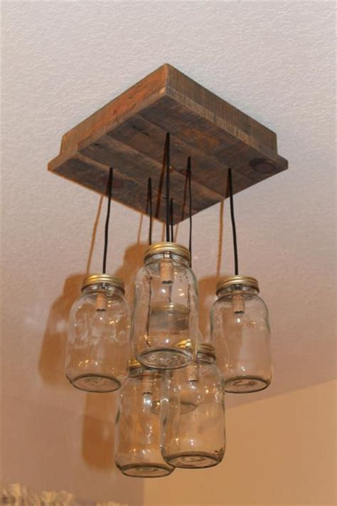diy pallet  mason jar light pallets designs