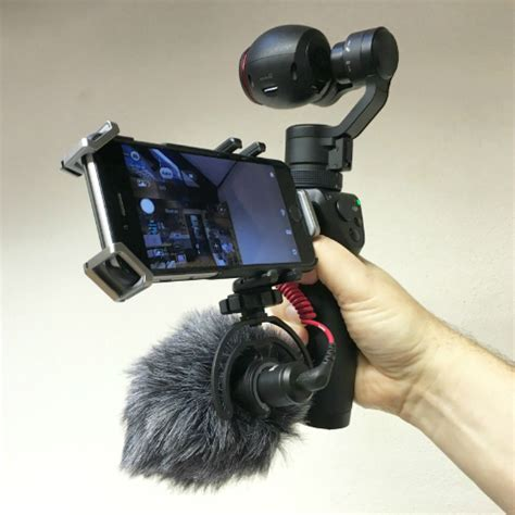 dji osmo mic holder attachment   mount  microphone   osmo drone  action