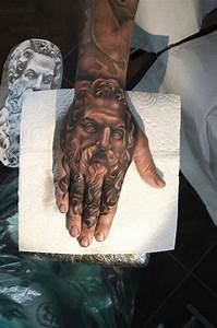 Greek god portrait tattoo on hand by Rose Price | Tattoos ...