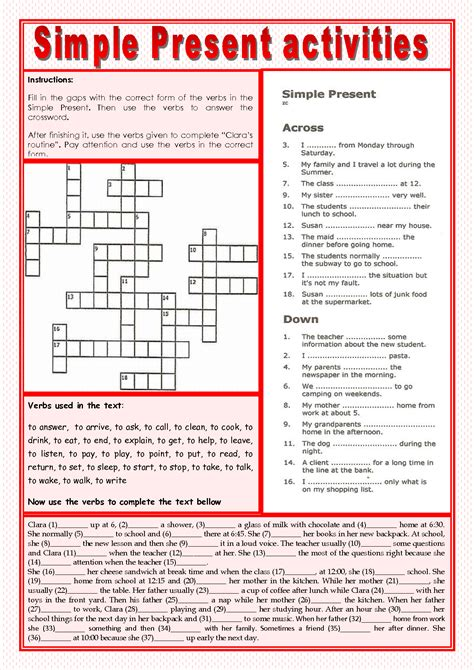 uncategorized simple present tense worksheets