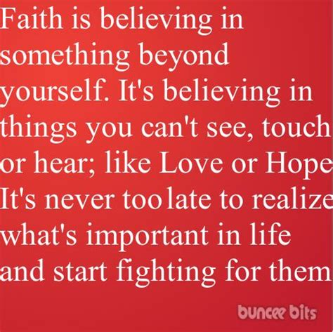 faith  believing    yourselfits