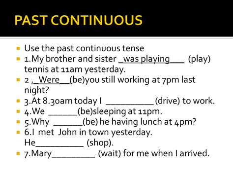 Continuous Verb Tenses  Ppt Download