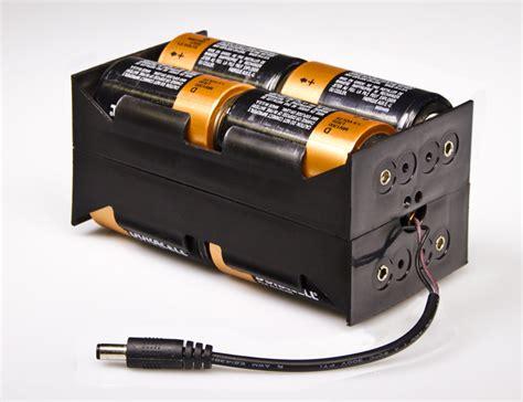 12v dc battery power supply 8 cell battery holder