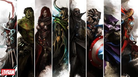 marvel comics  avengers wallpapers hd desktop