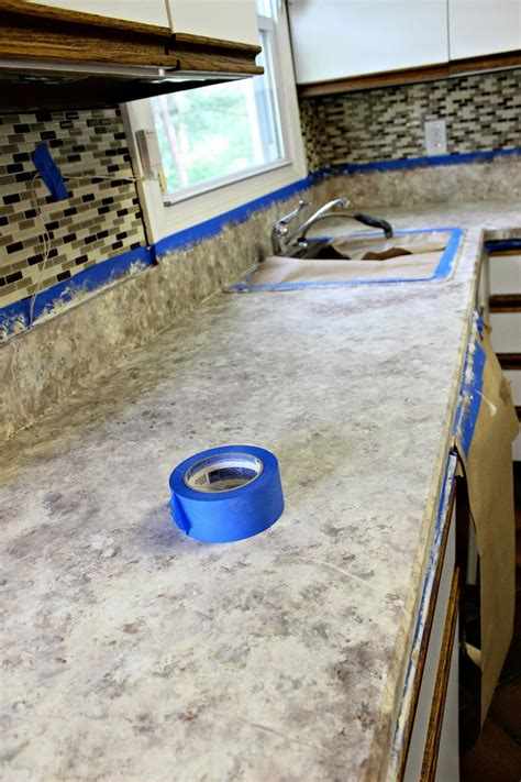 countertops for kitchen cabinets days of chalk and chocolate how to paint your countertops 5935
