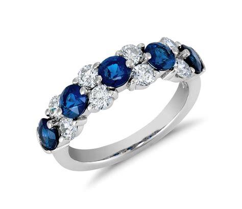 sapphire  diamond garland ring  platinum  ct tw