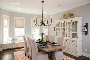Shabby Chic Dining Room Hutch by Favorite Fixer Upper Dining Rooms